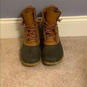 "8"" ll bean boots lightly worn"